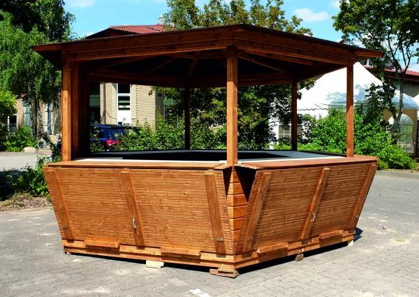 Holzpavillon / Markthütte / 6-Eck-Pavillon 4,00m
