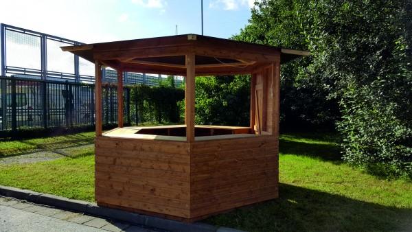 Holzpavillon / Markthütte / 6-Eck-Pavillon 3,00m