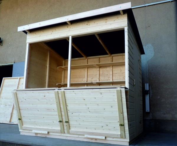 Markthütte 2,00m x 2,00m - Pultdach